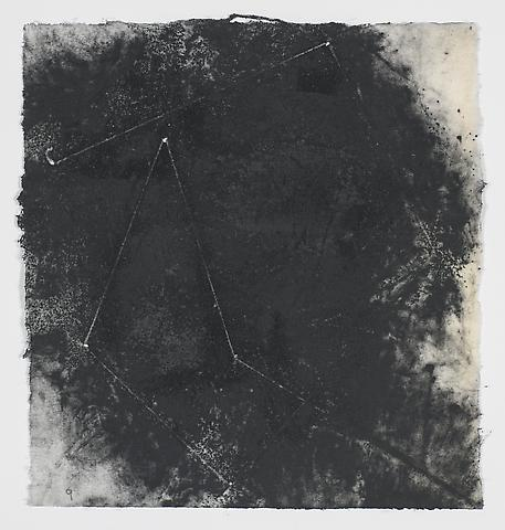 Jack Whitten, Target (In & Out) #13 (2011) Magnetite and acrylic on rice paper 8.5h x 8w in (21.59h x 20.32w cm)