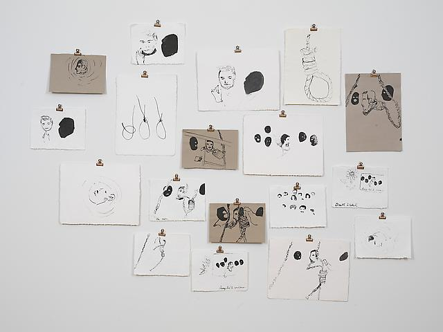 Untitled (Execution of Saddam Hussein) (2007) Ink on paper Dimensions variable (suite of 18)