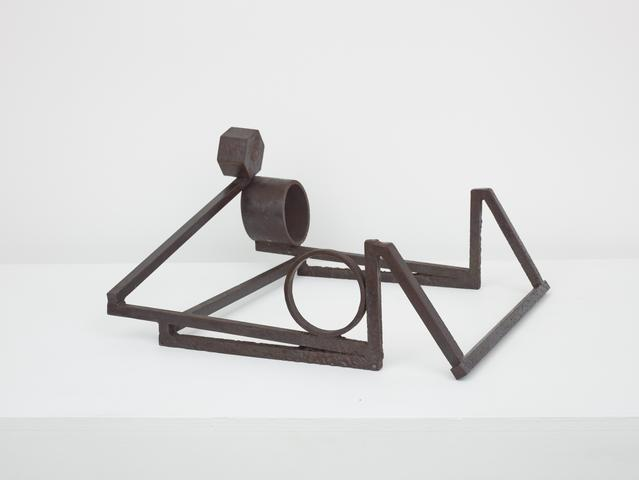 Untitled (Prototype Square Sculpture) (1969-72) Welded steel 8h x 15.5w x 16d in (20.3h x 39.4w x 40.6d cm)
