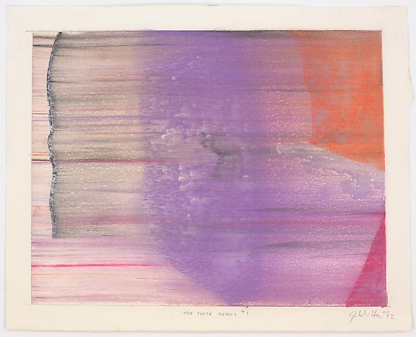 The Tenth Iceberg #1 (1972) Pastel on paper 13h x 16w in (33.02h x 40.64w cm)