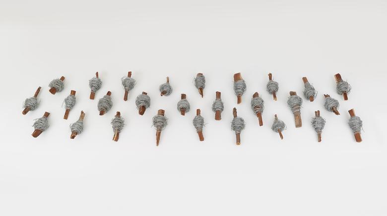 Iron No 2 (2013) Wood and iron 7.9h x 157.5w x 39.4d in (20.1h x 400.1w x 100.1d cm)