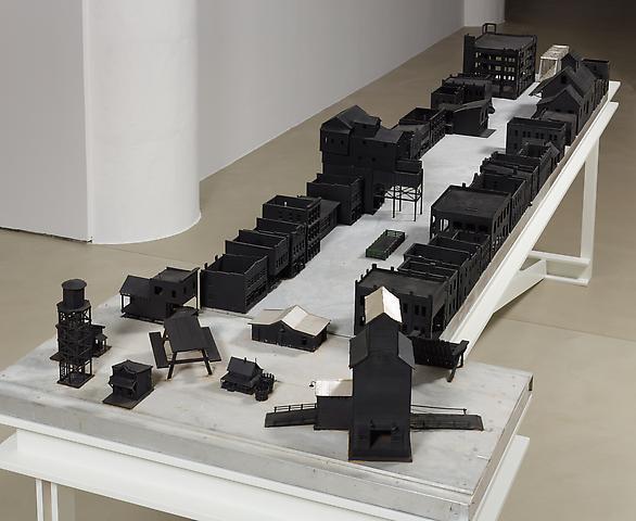 Tomb for John Berryman (1972-2012) Aluminum, plastic, balsa wood, paint 12h x 128w x 53.75d in (30.5h x 325.1w x 136.5d cm)