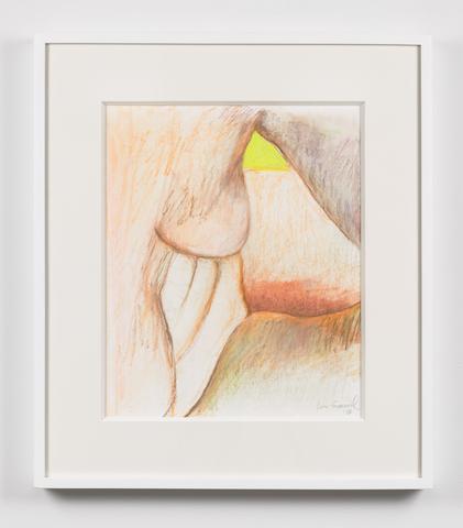Untitled  (2016) Oil crayon on paper 15h x 15w in (38.1h x 38.1w cm)