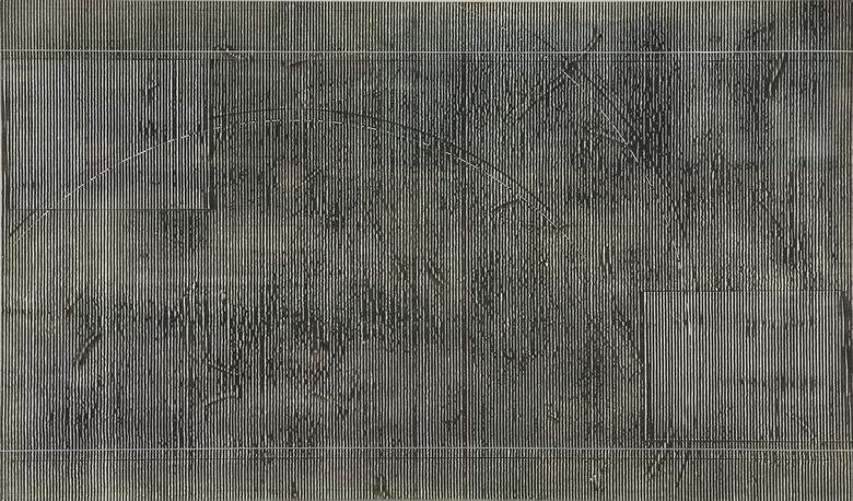 Taf II (1978) Acrylic on canvas 40.13h x 68.13w in (101.9h x 173.1w cm)