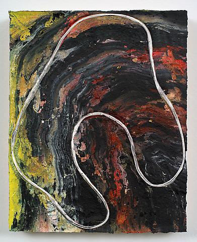 Loop #32 (The Scream: Updated Version) (2012) Acrylic on panel 10h x 8w in (25.4h x 20.32w cm)