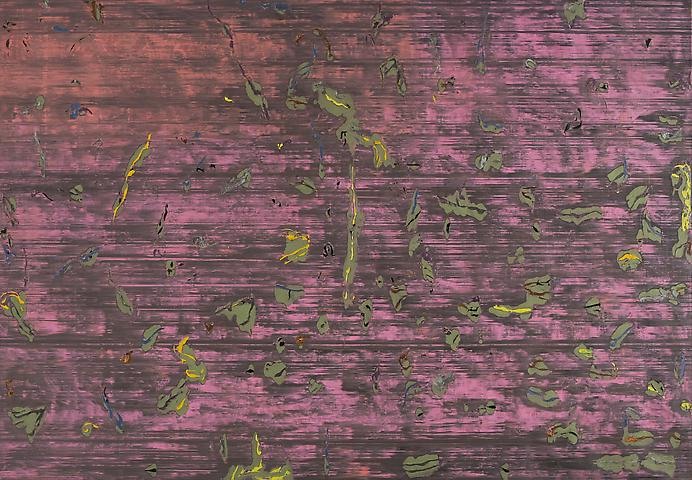 Asa's Palace (1973) Acrylic on canvas 107.5h x 154.5w in (273.05h x 392.43w cm)