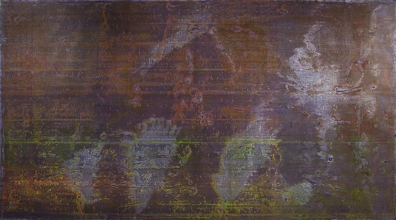 The Pariah Way (1973) Acrylic on canvas 110h x 207w in (279.4h x 525.78w cm)