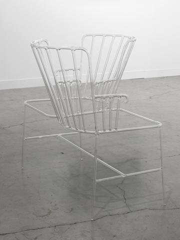 Conversation Piece (2010) Tempered glass chair 33 x 31.5 x 17.25 in (83.8h x 80w x 43.8d cm) Edition of 3