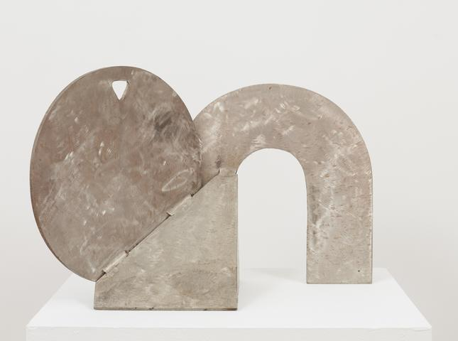 Maquette for Confirmation (1989) Stainless Steel 13h x 20.9w x 9.4d in (33h x 53.1w x 23.9d cm)