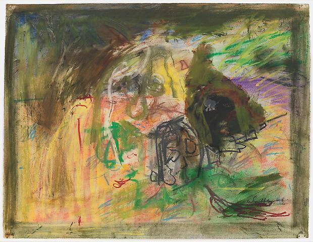 Storm Over Yonder (1968) Pastel and oil on paper 17h x 22.38w in (43.18h x 56.85w cm)