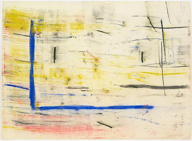Study for Lapsang and Chinese Sincerity #3 (1975) Pastel on paper 19h x 26w in (48.26h x 66.04w cm)