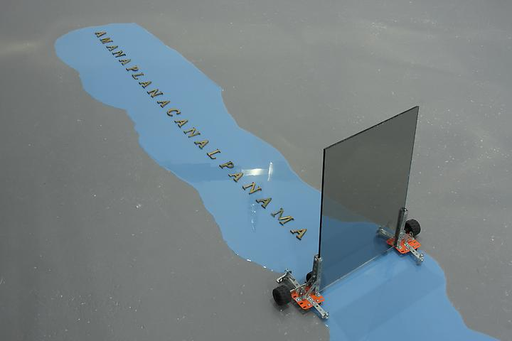 Amanaplanacanalpanama (1995) Mixed media; Dimensions variable Installation view