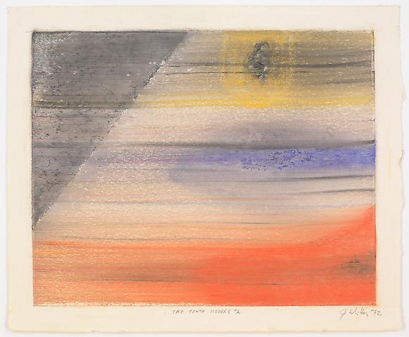 The Tenth Iceberg #2 (1972) Pastel on paper 13h x 16w in (33.02h x 40.64w cm)