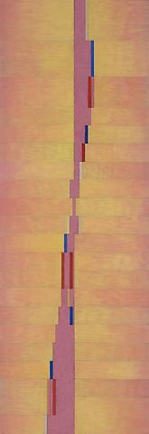 Up (2008) Oil on linen 84h x 29w in (213.36h x 73.66w cm)
