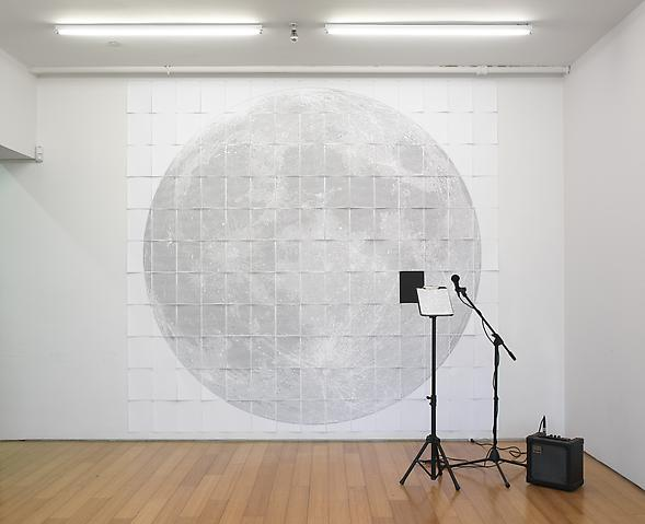 Paper Moon (I Create As I Speak) (2008) Interactive multimedia; Edition of 3 with 1 AP Installation view; Alexander Gray Associates