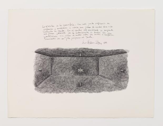 Luis Camnitzer, La agresión de la geomtría (1973) Ink on paper 22h x 30w in (55.9h x 76.2w cm)