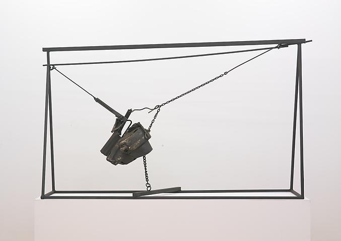 Chaino (1964) Welded steel and chains 62h x 102w x 26d in (157.48h x 259.08w x 66.04d cm)