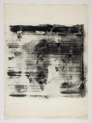 Study for Omalos #9 (1974) Toner on paper 25.75h x 19w in (65.41h x 48.26w cm)