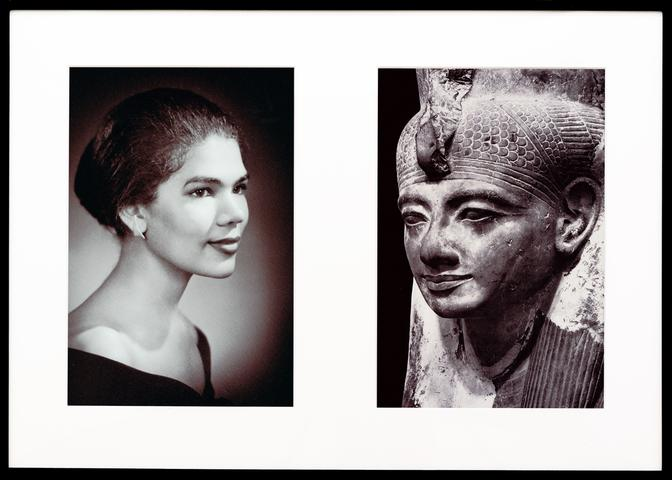 Miscegenated Family Album (Sisters IV), L: Devonia's sister, Lorraine; R: Nefertiti's sister, Mutnedjmet (1980/1994) Cibachrome prints, 26h x 37w in (66h x 94w cm) Edition of 8 with 1 AP