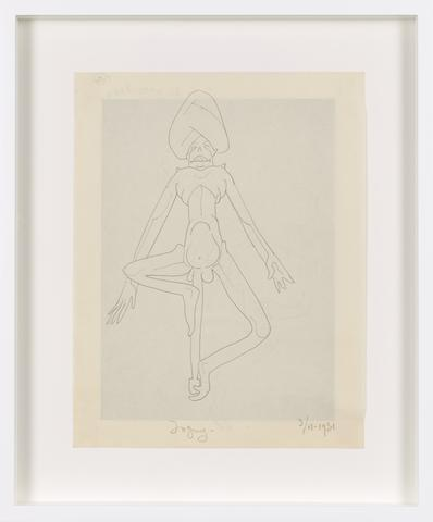 Untitled (1931) Graphite on paper 10.94h x 8.43w in (27.8h x 21.4w cm)