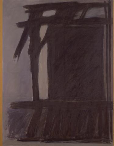 Site (1966) Oil on canvas  80h x 82w in (203.2h x 208.3w cm)