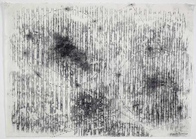 Radiator Drawing #2 (2010) Graphite on rice paper 19.5h x 27w in (49.53h x 68.58w cm)