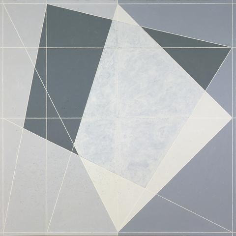 Alternative IV (OC-Q4-77 #3) (1977) Oil on canvas 72h x 72w in (182.9h x 182.9w cm)