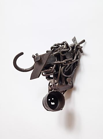 Memphis (1991) Welded steel 15h x 11.25w x 10.25d in (38.1h x 28.58w x 26.04d cm)