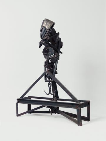 The Lifted X (1965) Welded steel 65h x 45w x 22d in (165.1h x 114.3w x 55.9d cm)