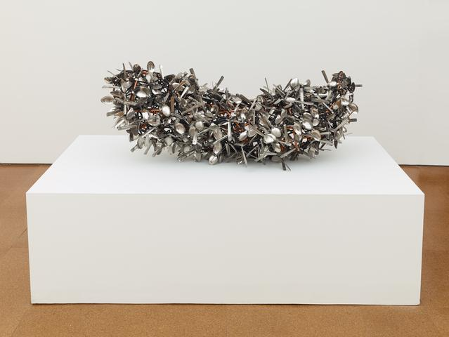 Spoons No. 5 (2012) Spoons and copper 18.9h x 19.7w x 55.1d in (48h x 50w x 140d cm)