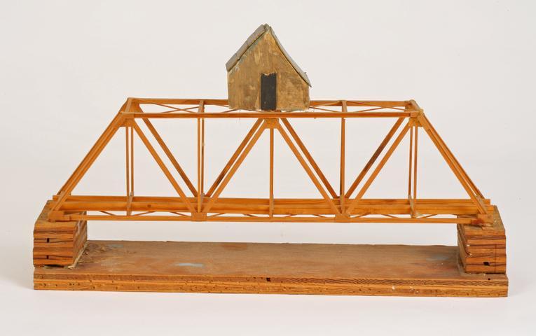 Siah Armajani, House Above the Bridge (1974-75) Mixed media 10.25h x 18w x 4.75d in (26h x 45.7w x 12.1d cm)
