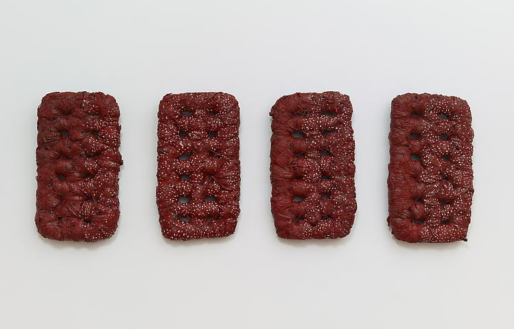 In Her Absence (1981) Mixed media 34h x 86w in (86.36h x 218.44w cm)
