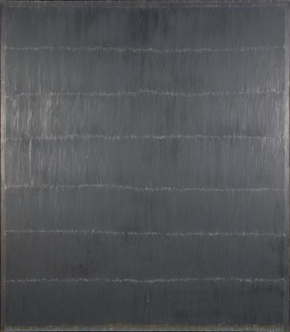 Note (1968) Oil on linen 80h x 70w in (203.2h x 177.8w cm)