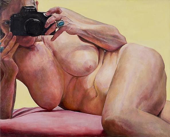 Joan Semmel Pink Cushion (2004) Oil on canvas: 44h x 54w in (111.76h x 137.16w cm)