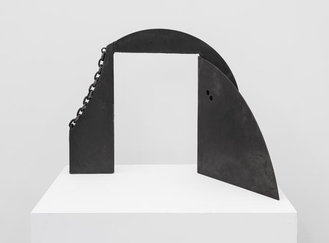 To Wifredo Lam (1982) Welded steel 24.9h x 31.5w x 19.3d in (63.2h x 80w x 49d cm)