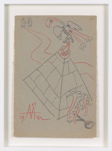 Untitled (1942) Colored pencil on paper 12.68h x 8.66w in (32.2h x 22w cm)