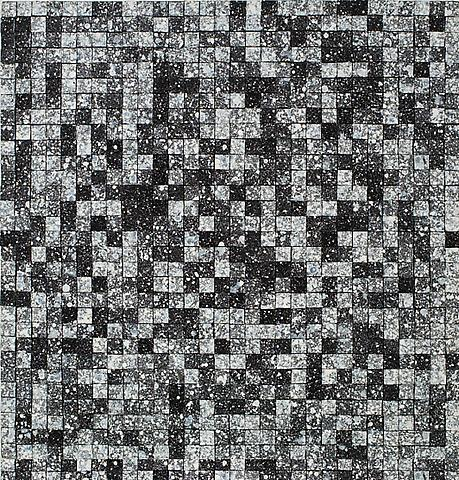 Data I (1991) Acrylic on canvas 30h x 30w in (76.2h x 76.2w cm)