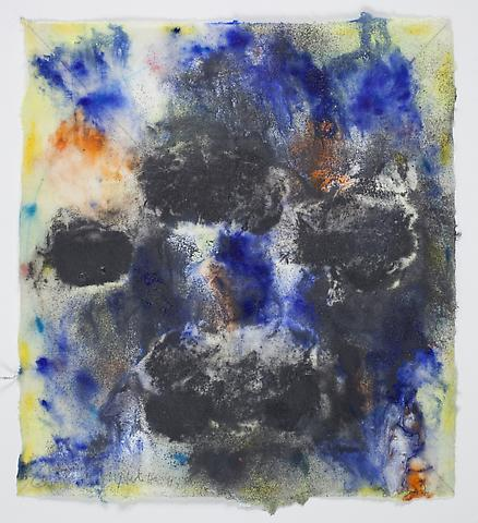 Saturation #2 (2011) Acrylic and magnanite on rice paper 8.5h x 7.75w in (21.59h x 19.68w cm)