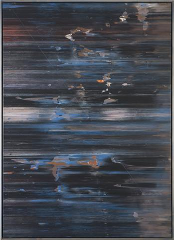 April's Shark (1974) Acrylic on canvas 72h x 52w in (182.9h x 132.1w cm)