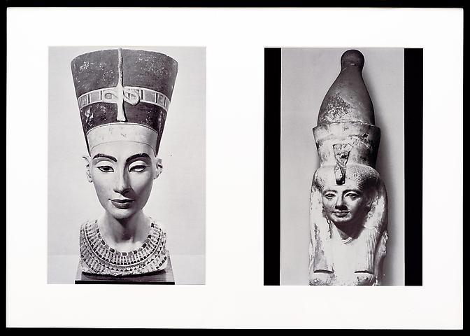 Miscegenated Family Album (Sibling Rivalry) L: Nefertiti; R: Nefertiti's sister, Mutnedjmet  (1980/1994) Cibachrome prints; Edition of 8 with 1 AP; 37h x 26w in (93.98h x 66.04w cm)
