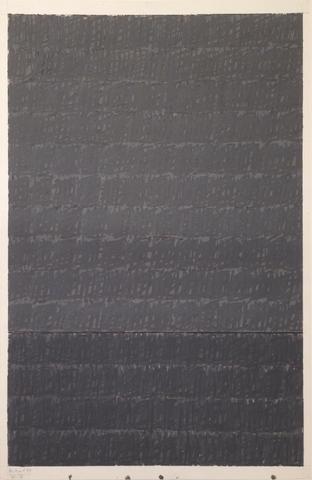 D.A. on P. #1 (Q1-73) (1973) Acrylic on paper 28.63h x 20w in (72.7h x 50.8w cm)