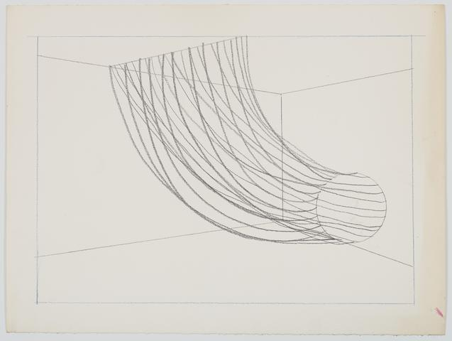 Untitled Barbed Wire Study II (1970) Graphite on paper 18.13h x 24.13w in (46.1h x 61.3w cm)