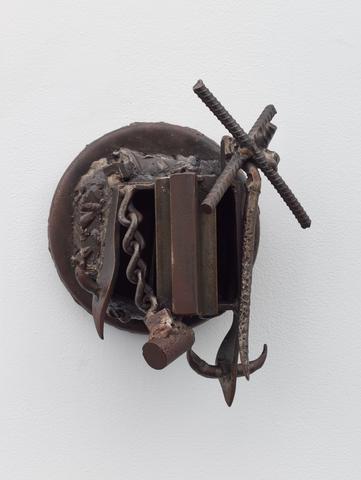 Siempre Gilberto de la Nuez (1994) Welded steel 13.5h x 12.5w x 7d in (34.3h x 31.8w x 17.8d cm)