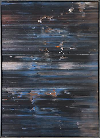April's Shark (1974) Acrylic on canvas 72h x 52w in (182.88h x 132.08w cm)