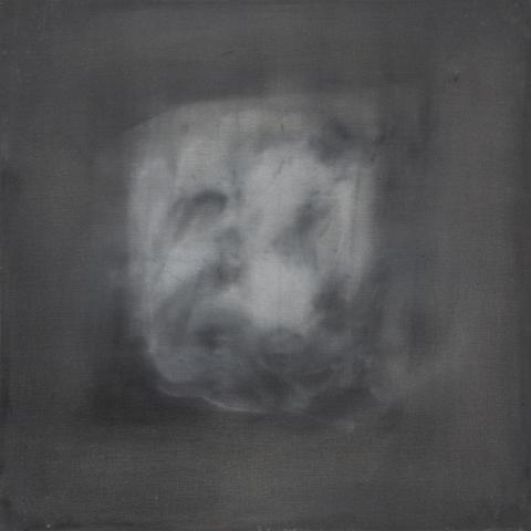 The Gray Void (1964) Acrylic and mixed media on wood 24h x 24w in (61h x 61w cm)