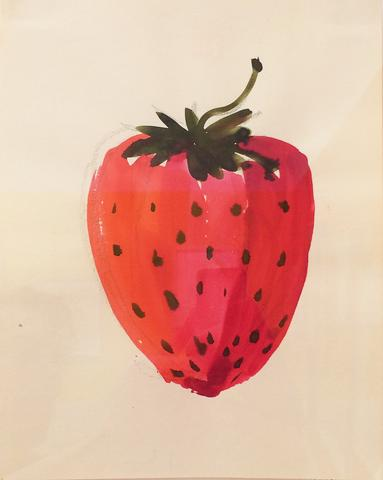 "Untitled, from the ""Fruits"" series (n.d.) Watercolor on paper 11.75h x 9w in (29.8h x 22.9w cm)"