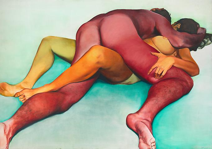 Hold (1972) Oil on canvas 72h x 108w in (182.88h x 274.32w cm)
