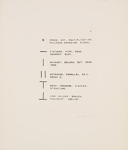 English Dictionary (1971) Etching; 16h x 13.5w in (40.64h x 34.29w cm) Edition of 5 with 1 AP