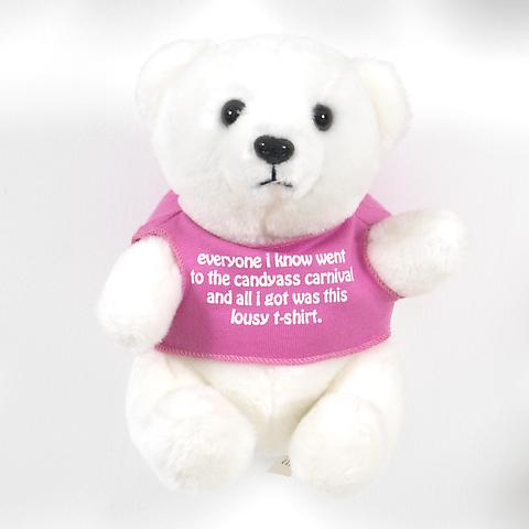 Bear (Pink) (1991) Stuffed toy bear 6.88h x 5.63w x 5d in (17.48h x 14.3w x 12.7d cm)