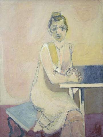 Seated Woman (Wally) (1934-36) Oil on canvas  36h x 28w in (91.4h x 71.1w cm)